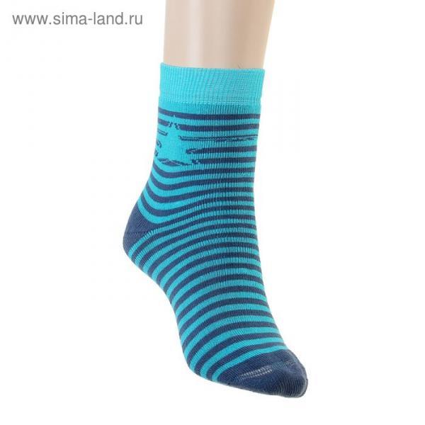 Носки детские плюшевые ПФС102-2538, цвет джинсовый, р-р 20-22