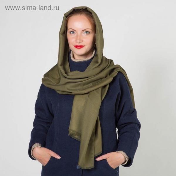 Шарф женский, размер 70 х 180 см, цвет зелёный 2122411463