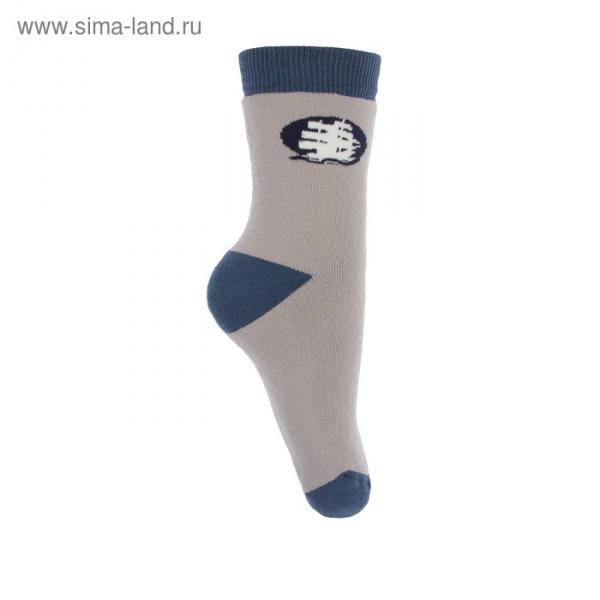 Носки детские плюшевые ПФС102-2958, цвет светло-серый, р-р 22-24