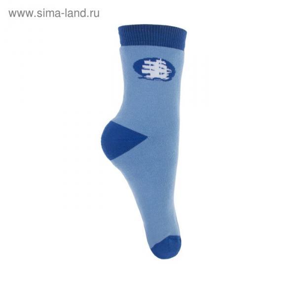 Носки детские плюшевые ПФС102-2958, цвет голубой, р-р 22-24