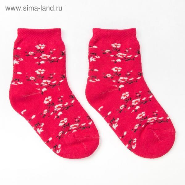 Носки детские плюшевые, цвет розовый, размер 18-20