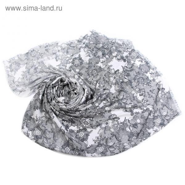 Палантин Тк496/3 цвет серый, р-р 70х180