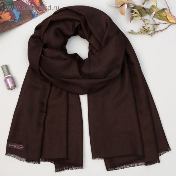 Шарф женский, цвет коричневый, 70 х 180 см