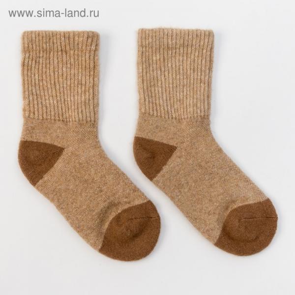 Носки детские из шерсти верблюда 02102 цвет бежевый, р-р 10-12 см (1)