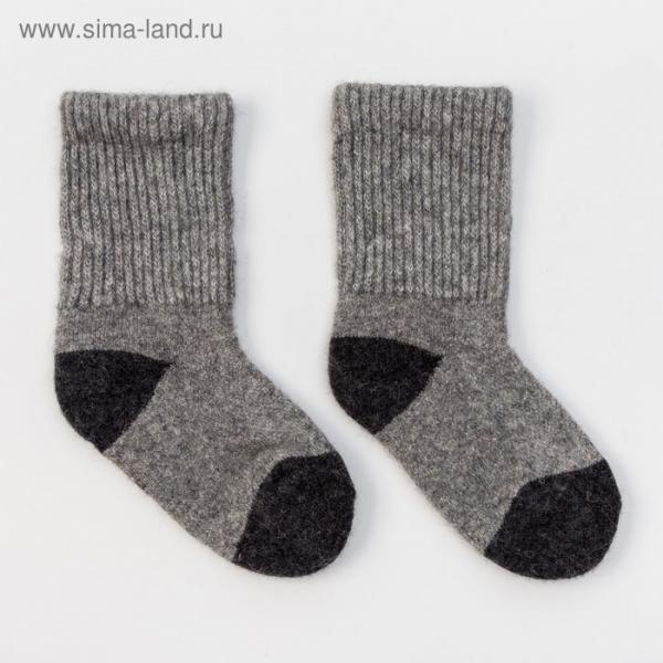 Носки детские из шерсти яка 02103 цвет серый, р-р 10-12 см (1)