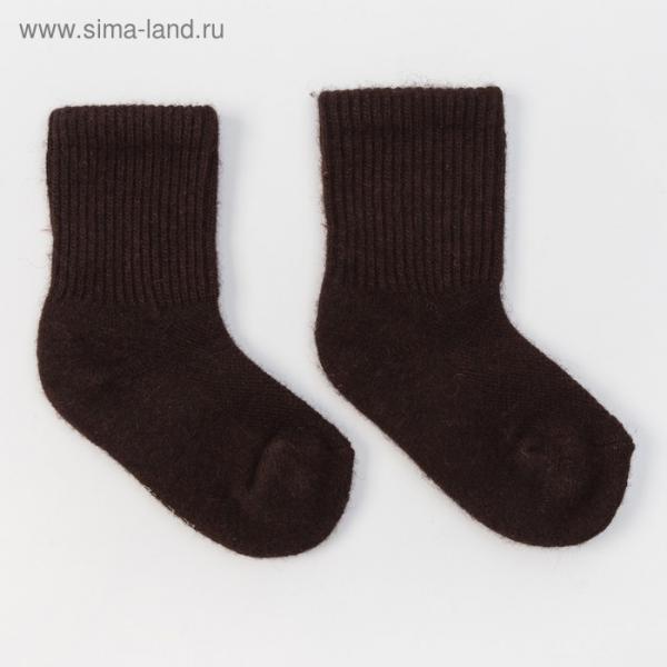 Носки детские из шерсти яка 02104 цвет шоколадный, р-р 10-12 см (1)