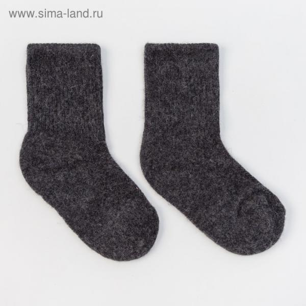 Носки детские шерстяные 00133 цвет графитовый, р-р 12-14 см (2)