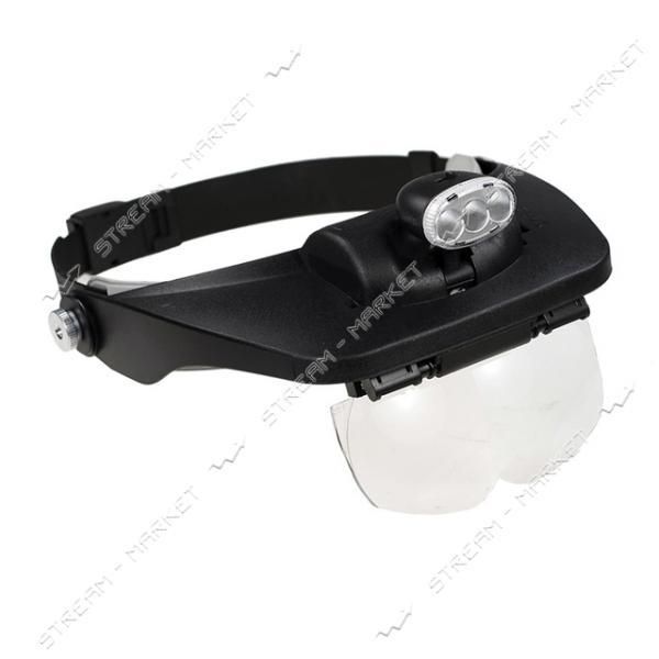 Бинокулярная лупа на голову MG81001-Е с подсветкой