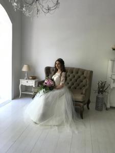 Фото Свадебные платья Пышное свадебное платье с блесткой в юбке Андреа