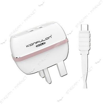 Cетевое зарядное устройство KONFULON KFL-С23 плюс кабель S33A USB Type-C