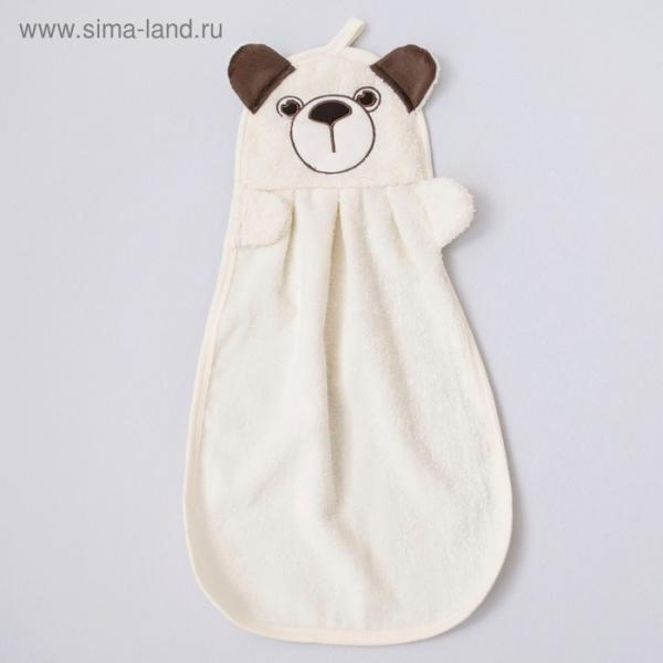 Полотенце детское «Зверюшки», размер 31 × 52 см, медвежонок, молочный