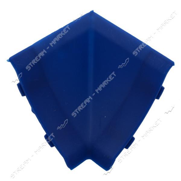 Уголок для плинтуса внутренний стыковочный синий