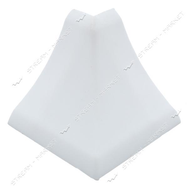 Уголок для плинтуса наружный стыковочный белый