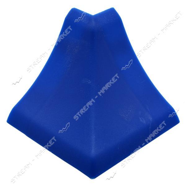 Уголок для плинтуса наружный стыковочный синий