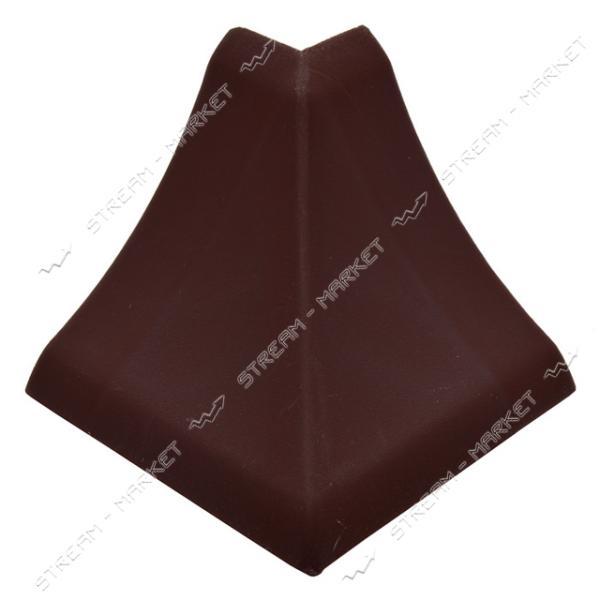 Уголок для плинтуса наружный стыковочный темно-коричневый