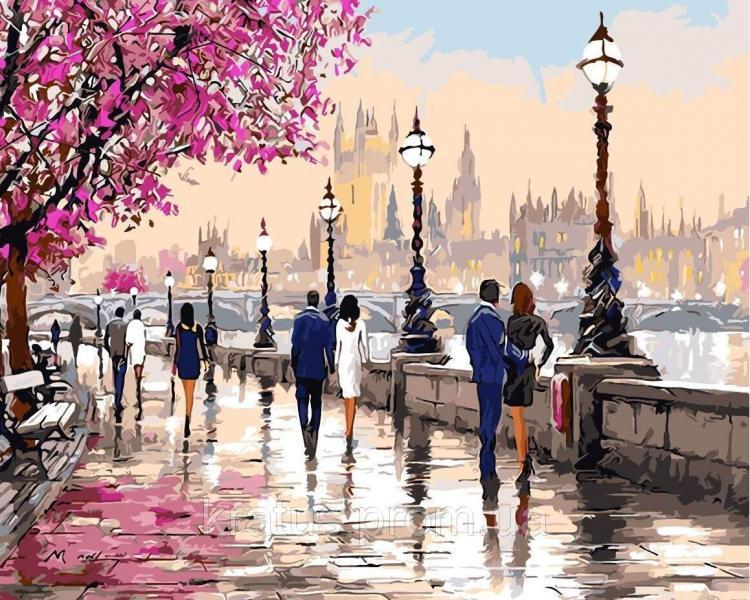 """AS 0135 """"Прогулка по набережной"""" Картина по номерам на холсте Art Story 40x50см"""