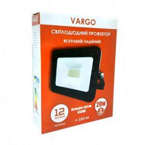 Прожектор VARGO 20W, 220V, 1800lm, 6500К