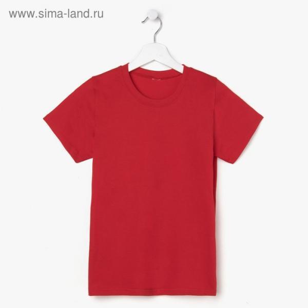 Футболка детская, цвет красный, рост 122 см