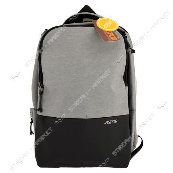 Рюкзак ASPOR Трансформер 2 в 1 черно/серый