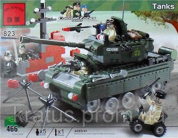 823 «Танк» Конструктор Brick 466 деталей.