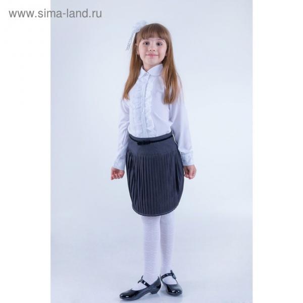Юбка для девочек, рост 128-134 см, возраст 8 лет, цвет серый