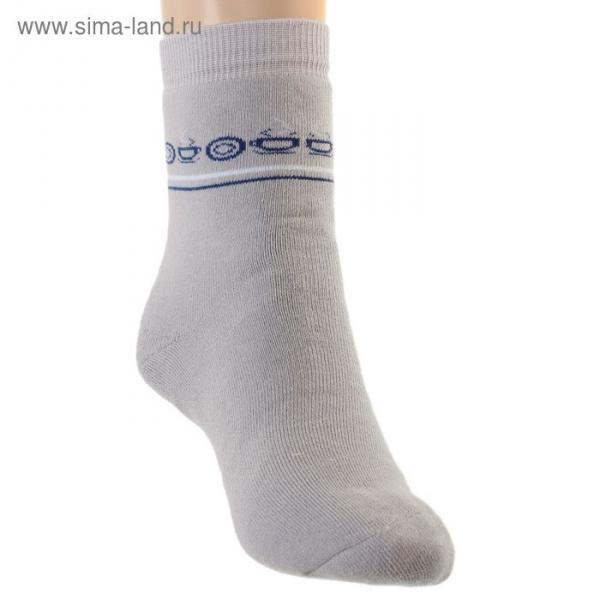 Носки детские плюшевые, цвет светло-серый, размер 22-24