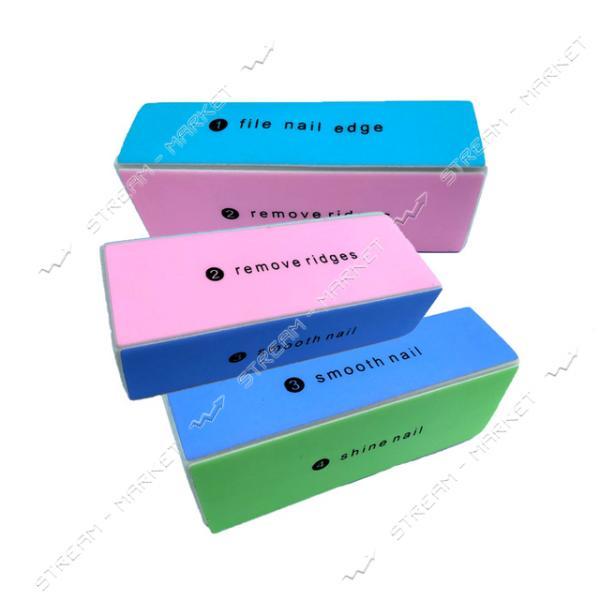 Полировщик для ногтей Cosmetics №36-10 4 стороны с надписями