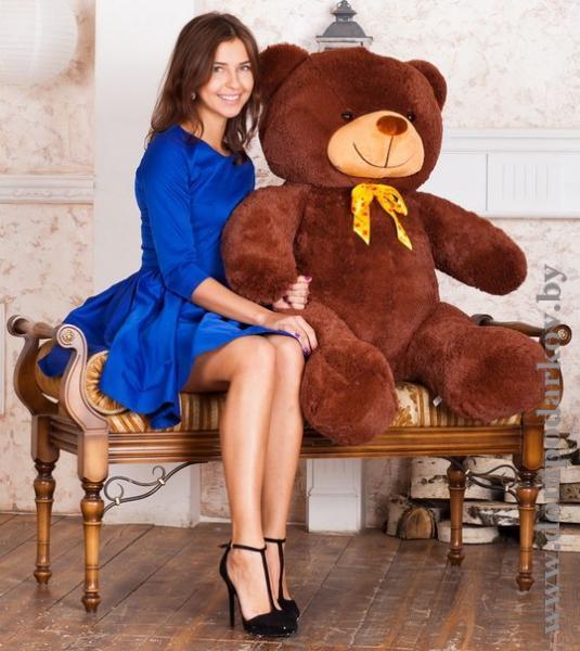 Фото ПОСМОТРЕТЬ ВЕСЬ КАТАЛОГ, Текстильные изделия , Мягкие игрушки / медведи плюшевые  Плюшевый медведь Марти 140 см.