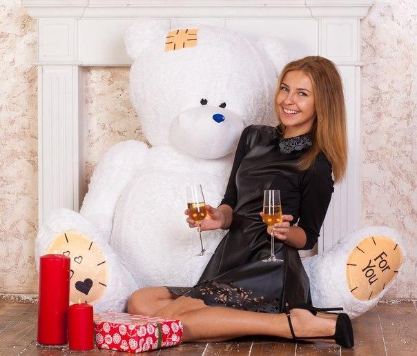 Плюшевый медведь Тедди 190 см.