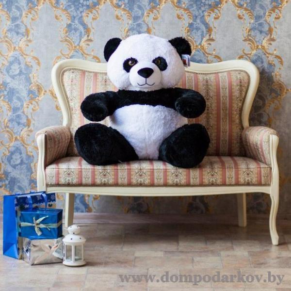 Фото ПОСМОТРЕТЬ ВЕСЬ КАТАЛОГ, Текстильные изделия , Мягкие игрушки / медведи плюшевые  Плюшевый медведь Панда 90 см.