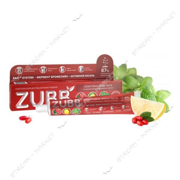 Зубная паста ZUBB Биоактивная со вкусом барбариса и мяты 90 г