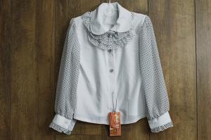 Фото Школа Модная шифоновая блуза 122 см