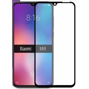 Защитное стекло Xiaomi Mi9 Black (Код товара:9399)