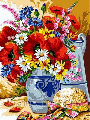 Фото Картины на холсте по номерам, Букеты, Цветы, Натюрморты VK 074