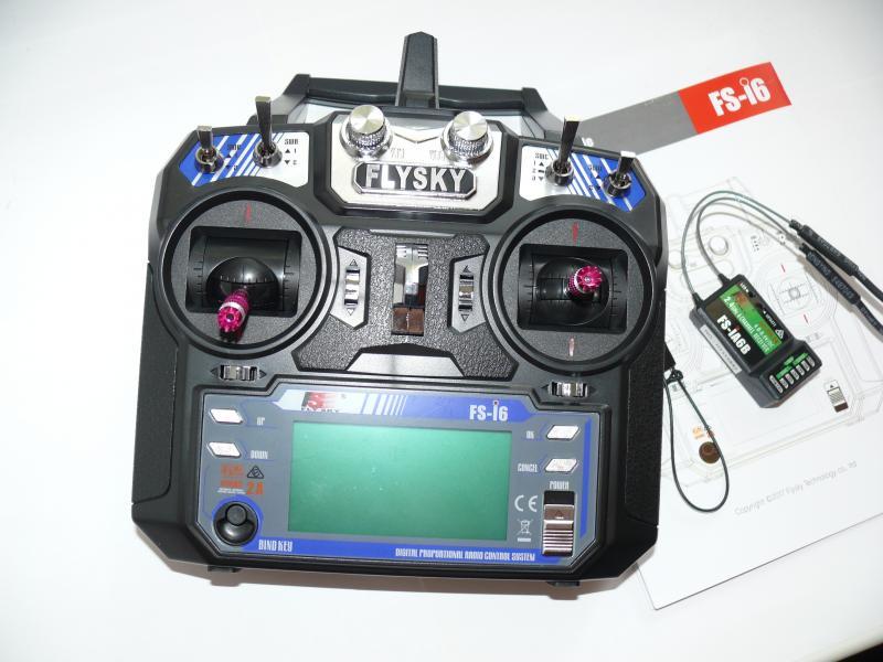Комплект радиоаппаратуры Flysky FS - I6, пульт + приемник в жестком корпусе с двумя антеннами есть подключение ibus.