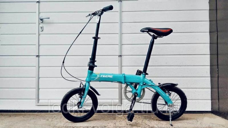 """Велосипед X-TREME 14""""FDAL (алюминий, складной) (светло-синий)"""