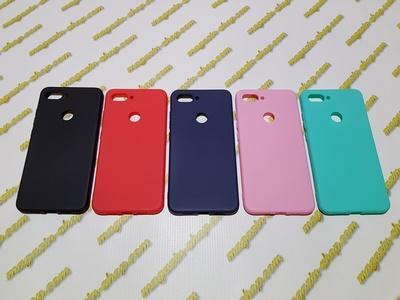 Цветной силиконовый чехол для Xiaomi Mi 8 Lite