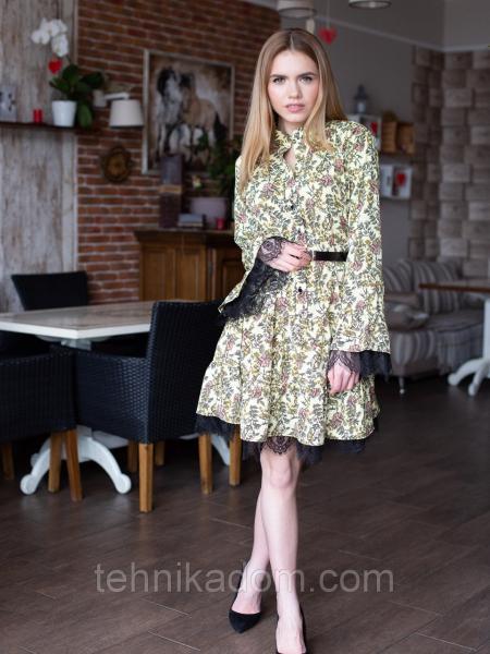 Платье Бланси 0470_3 цветочный принт
