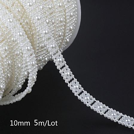Фото Бусины ,полубусины ,стразы,.цветок.шина, тесьма пластик, Тесьма пластиковая ,бусины на леске. Тесьма  пластиковая  10 мм.   Белого  цвета.