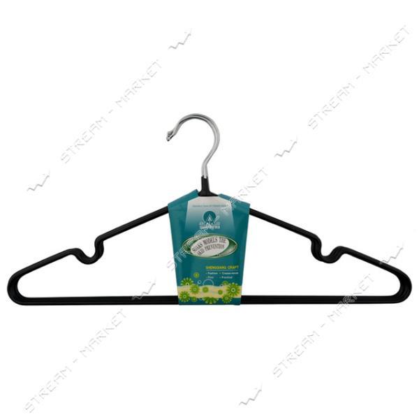 Набор вешалок для одежды силикон тонкий 40 см 5 шт Польша