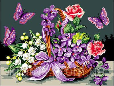 Фото Картины на холсте по номерам, Букеты, Цветы, Натюрморты VK 071