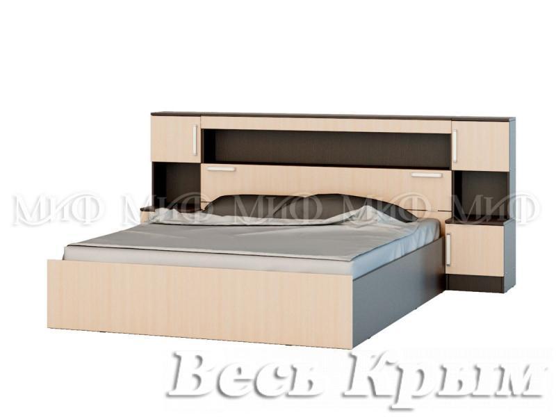 """МИФ - Мод. система """"БАСЯ"""" Кровать 160 с надстройкой и тумбами Кровати для спален в Крыму"""
