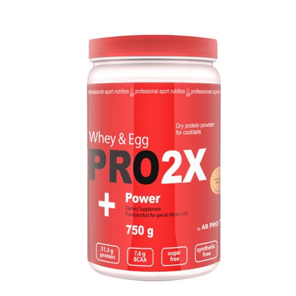 Протеин AB PRO яично-сывороточный протеин PRO 2X Whey&Egg Powder 750 г Клубника (023)
