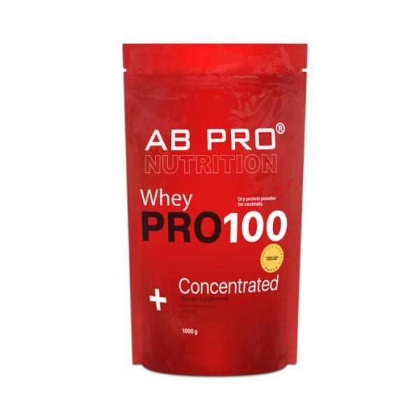 Протеин AB PRO PRO100 Whey Concentrated 1000 г Тоффи (039)