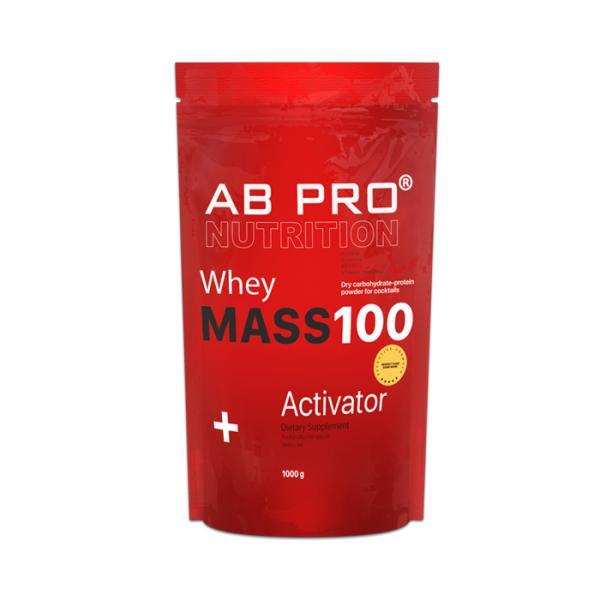 Гейнер AB PRO MASS 100 Whey Activator 1000 г  Клубника (040)