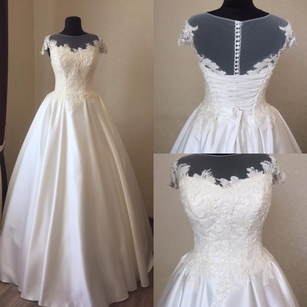 Атласное свадебное платье Карина Атлас