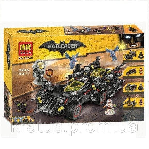 """10740 Конструктор Bela (Аналог Lego The Batman Movie 70917) """"Крутой Бэтмобиль"""" 1504 дет."""