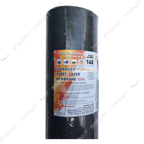 Мембрана Shadow 105г/м2 1.5х50м черная