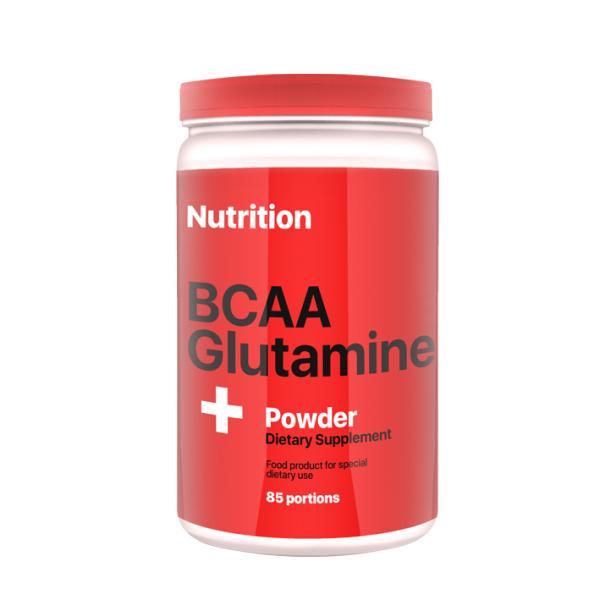 Аминокислота AB PRO BCAA + Glutamine Powder 1000 г Клубника (028)