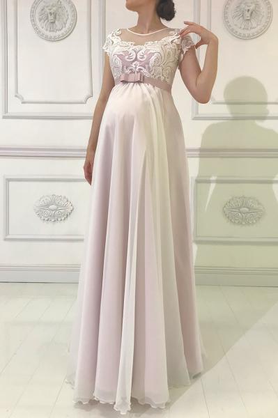 Свадебное платье для беременных в стиле ампир Люси